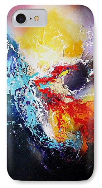 IPhone Case featuring the painting The Vortex by Patricia Lintner