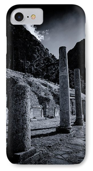 IPhone Case featuring the photograph The Votive Monument Of Spartans At Acient Delphi by Micah Goff