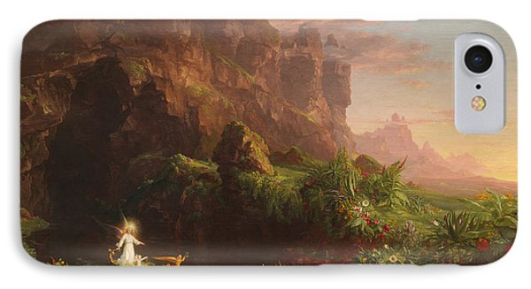 The Voyage Of Life Childhood IPhone Case by Thomas Cole