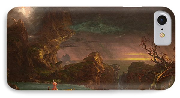 The Voyage Of Life Manhood IPhone Case by Thomas Cole