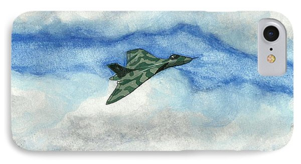 IPhone Case featuring the painting The Vulcan Bomber by John Williams