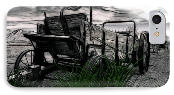 IPhone Case featuring the mixed media The Wagon by Tyler Robbins