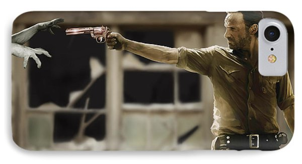 The Walking Dead IPhone Case by Paul Tagliamonte