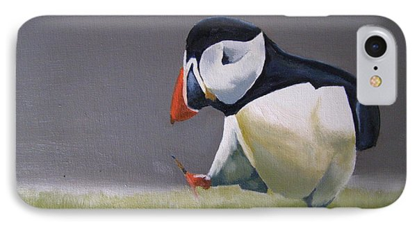The Walking Puffin IPhone Case