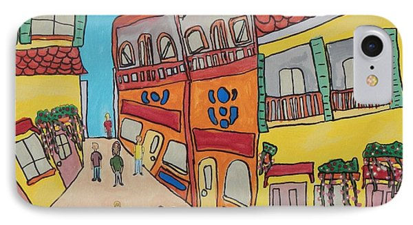 IPhone Case featuring the painting The Walled City by Artists With Autism Inc