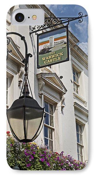 The Warwick Castle Pub IPhone Case by Cheri Randolph