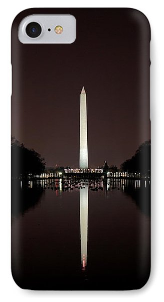 The Washington Monument - Reflections At Night IPhone Case