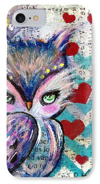 The Watcher IPhone Case by Lizzy Love of Oddball Art Co