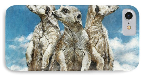 Meerkat iPhone 7 Case - The Watchers by Dreyer Wildlife Print Collections