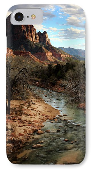 The Watchman At Sunset IPhone Case by Eric Foltz