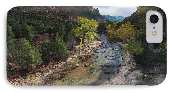 The Watchman In Zion National Park IPhone Case by Larry Marshall