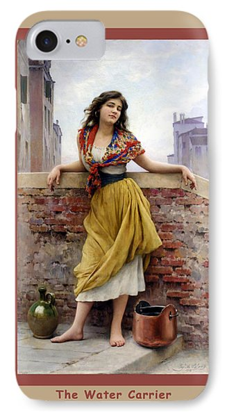 The Water Carrier Poster Phone Case by Eugene de Blaas