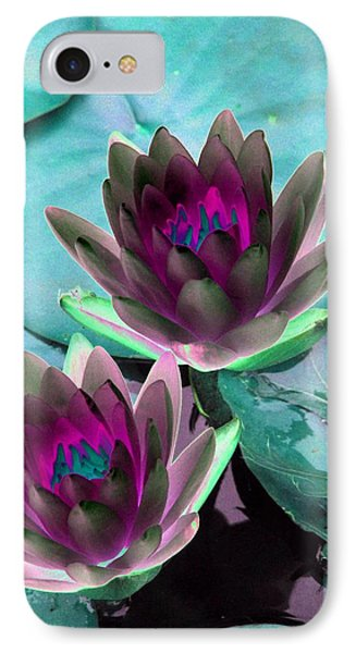 IPhone Case featuring the photograph The Water Lilies Collection - Photopower 1124 by Pamela Critchlow