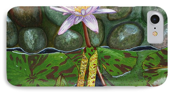 IPhone Case featuring the painting The Waterlily by Laura Forde