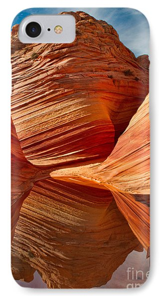 IPhone Case featuring the photograph The Wave With Reflection by Jerry Fornarotto