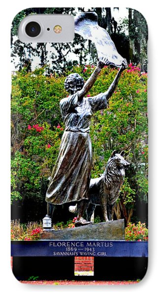 The Waving Girl Of Savannah IPhone Case by Tara Potts