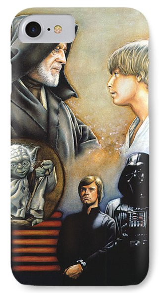 The Way Of The Force Phone Case by Edward Draganski