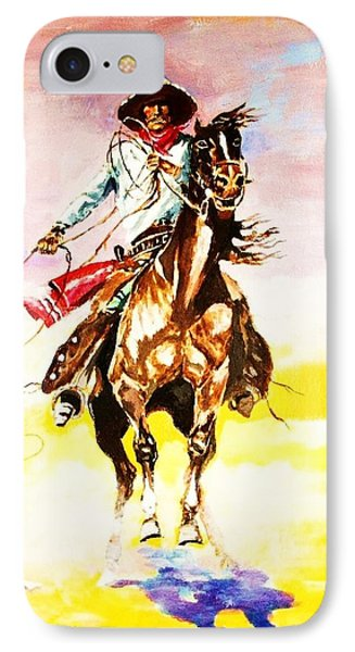 IPhone Case featuring the painting The Way Of The Vaquero by Al Brown