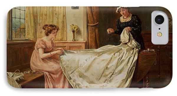 The Wedding Dress IPhone Case by George Goodwin Kilburne
