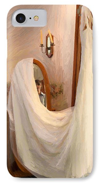 The Wedding Gown Is Ready IPhone Case by Angela A Stanton