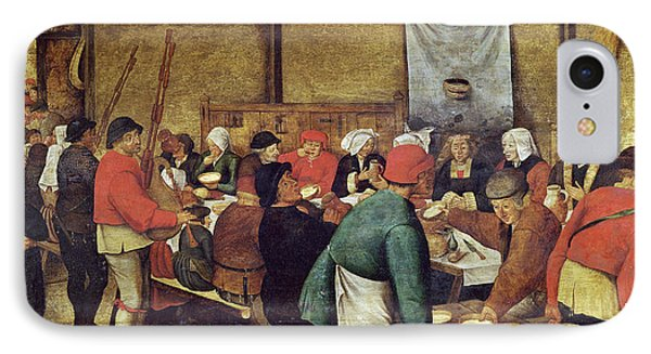 The Wedding Supper IPhone Case by Pieter the Younger Brueghel