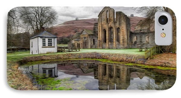 The Welsh Abbey IPhone Case by Adrian Evans