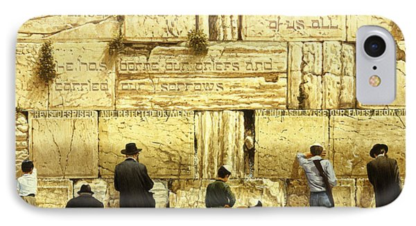 The Western Wall  Jerusalem IPhone Case by Graham Braddock