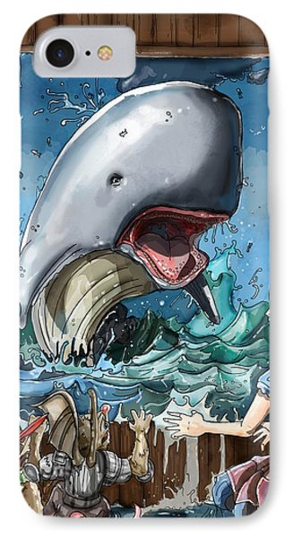 IPhone Case featuring the painting The Whale by Reynold Jay