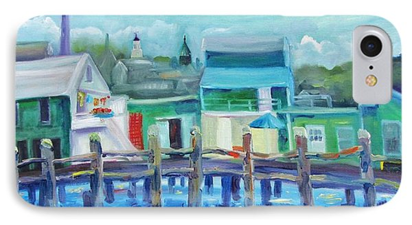 The Wharf In August Phone Case by Maria Milazzo