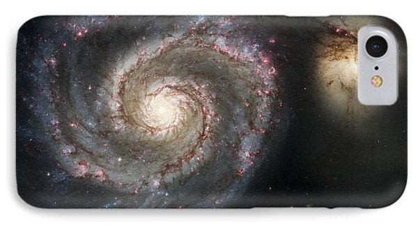 The Whirlpool Galaxy M51 And Companion IPhone Case by Adam Romanowicz