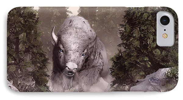 The White Buffalo IPhone Case by Daniel Eskridge