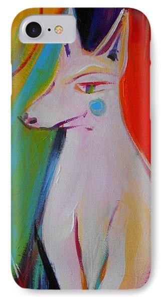 The White Dog  Phone Case by Marlene LAbbe