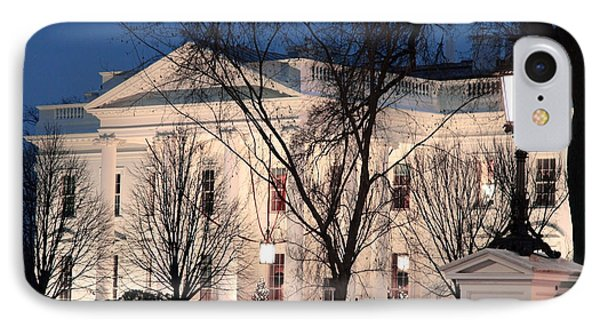 IPhone Case featuring the photograph The White House At Dusk by Cora Wandel