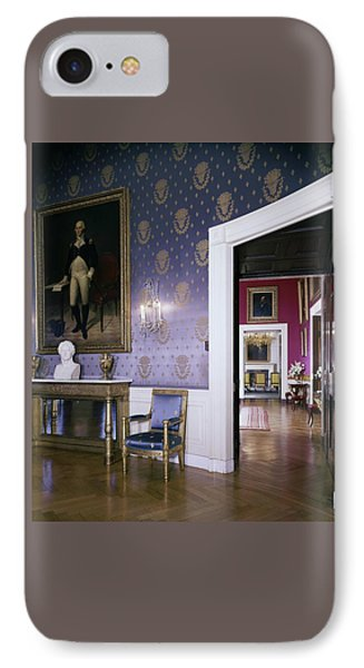 The White House Blue Room IPhone Case by Tom Leonard