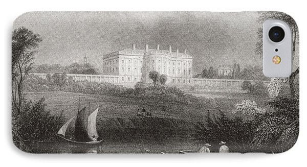 The White House, Washington D.c., United States Of America In 1860.  From Edward Vii His Life IPhone Case by Bridgeman Images