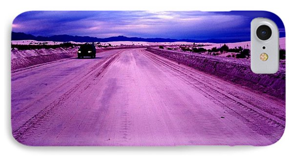 The White Sands Car New Mexico IPhone Case by Bob Pardue