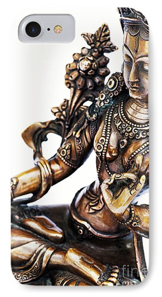 The White Tara IPhone Case by Tim Gainey