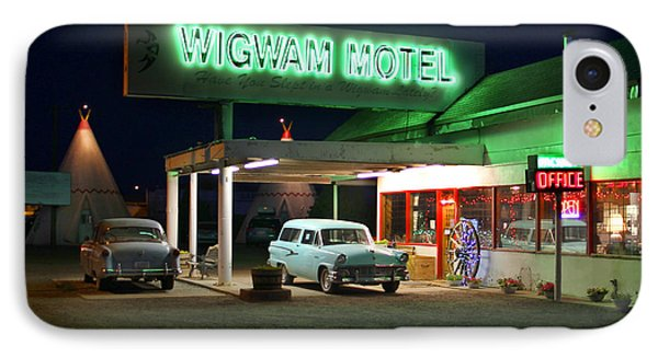 The Wigwam Motel On Route 66 2 IPhone Case by Mike McGlothlen