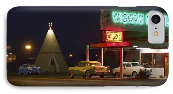 The Wigwam Motel On Route 66 Panoramic IPhone Case by Mike McGlothlen