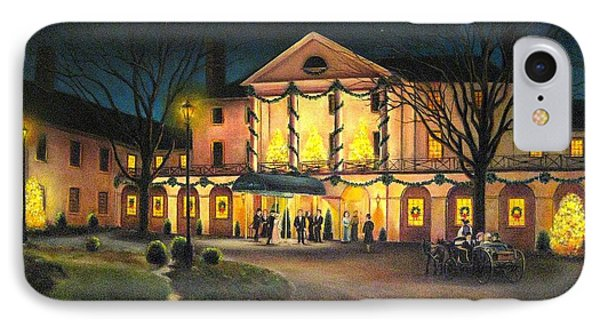 The Williamsburg Inn At Christmas IPhone Case by Gulay Berryman
