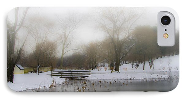 The Willows In Winter - Newtown Square Pa IPhone Case by Bill Cannon