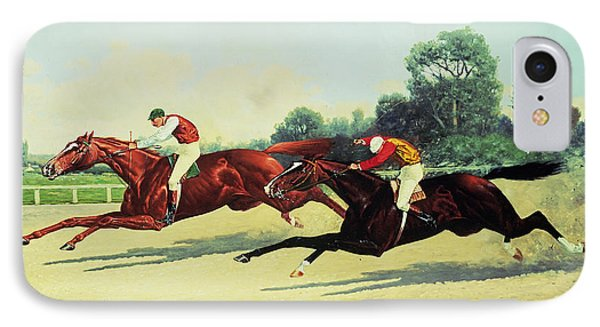 The Winning Post In Sight IPhone Case by Henry Stull