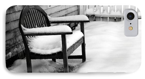 The Winter's Bench IPhone Case by John Rizzuto