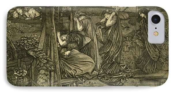 The Wise And Foolish Virgins Etching IPhone Case by Sir Edward Coley Burne-Jones