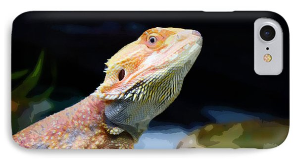 The Wise Lizard Phone Case by Celestial Images