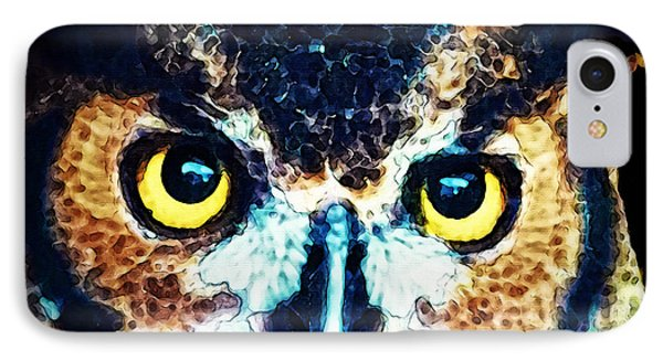 The Wise One - Owl Art By Sharon Cummings IPhone Case by Sharon Cummings
