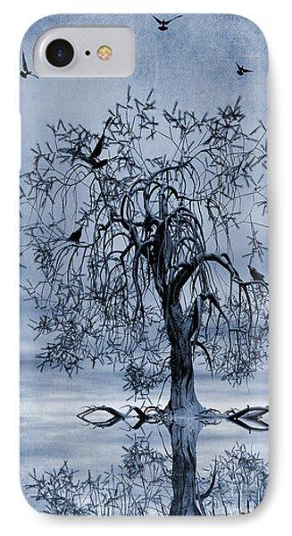 The Wishing Tree Cyanotype Phone Case by John Edwards
