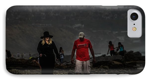 The Witch On The Beach IPhone Case by Menachem Ganon