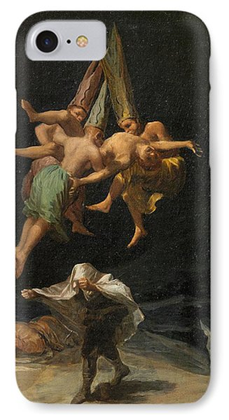 The Witches' Flight IPhone Case by Francisco Goya