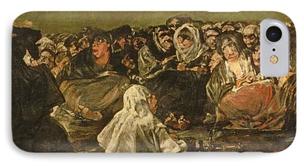 The Witches Sabbath Or The Great He-goat, One Of The Black Paintings, C.1821-23 Oil On Canvas IPhone Case